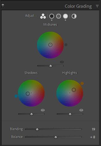 Orange and teal Color Grading in Lightroom