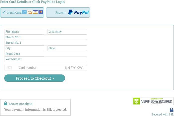 Stock Photo Secrets Review - Payment form