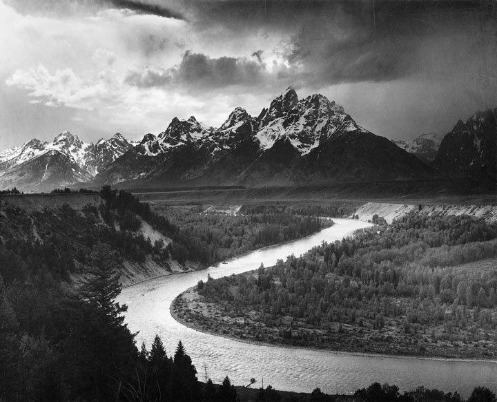 Ansel Adams - The Tetons - Snake River