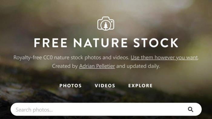 FreeNatureStock interface