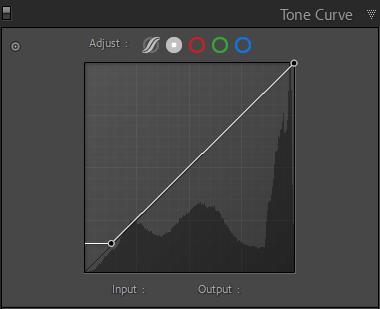 Orange and Teal - Lightroom Tone Curve panel