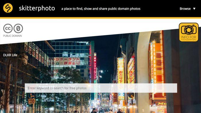 Skitterphoto interface