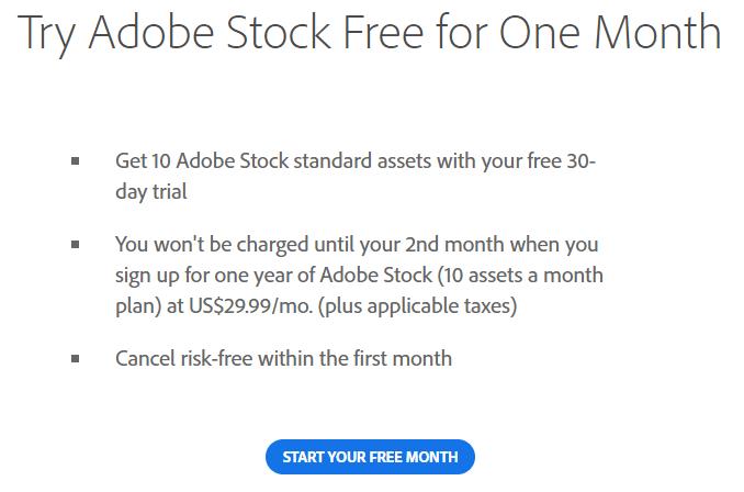 Adobe Stock free trial