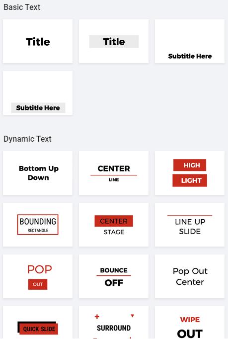 FlexClip Add text options