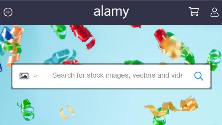 Alamy interface