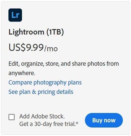 Buy Lightroom 1TB