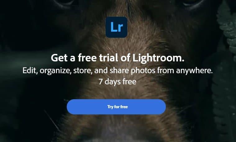 Lightroom Free Trial