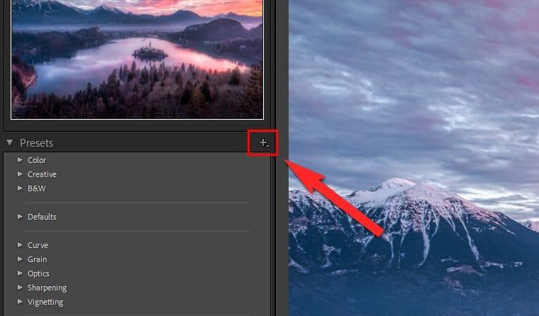 Lightroom Presets Windows - Plus symbol
