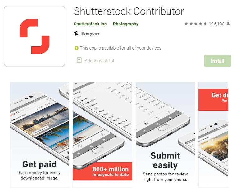 Shutterstock Contributor app