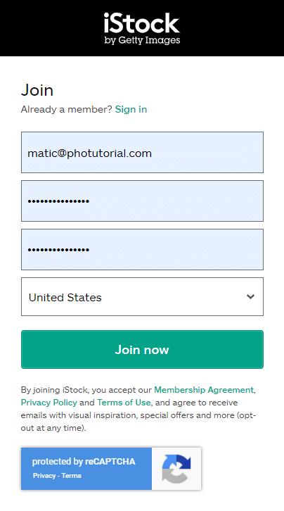 iStock Promo Code - Create an Account