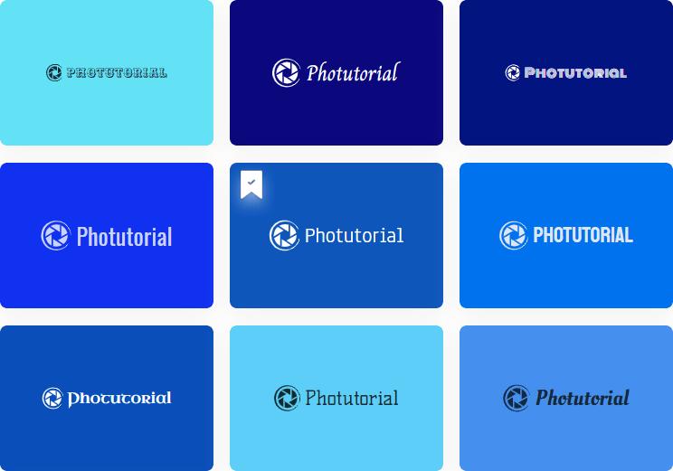 Designs.ai logo maker propositions