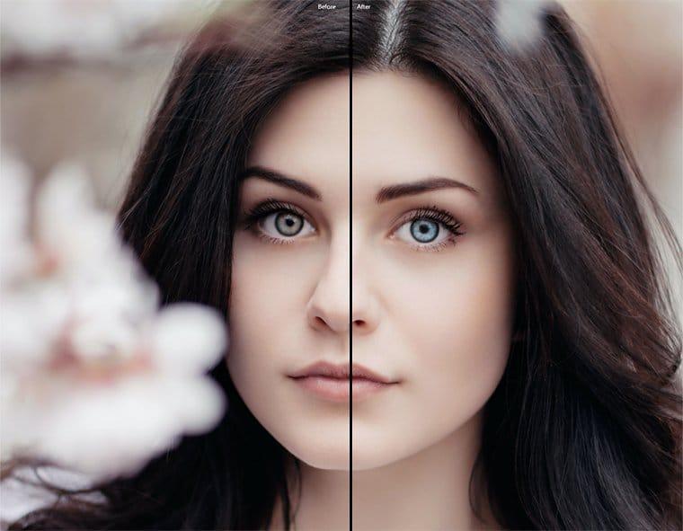 Luminar AI Iris AI before and after