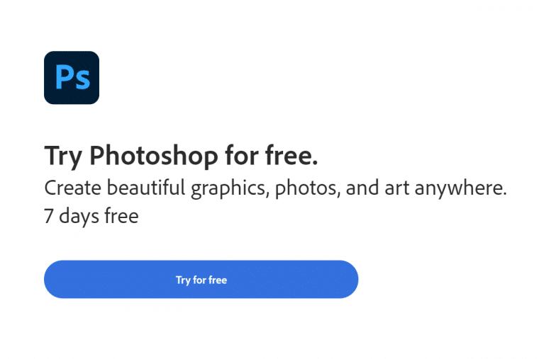 Photoshop free trial thumbnail