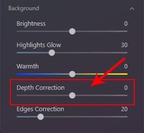 Luminar AI depth correction