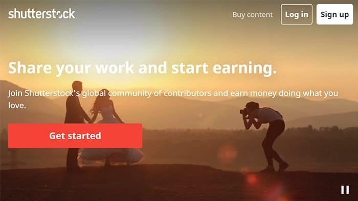Shutterstock interface