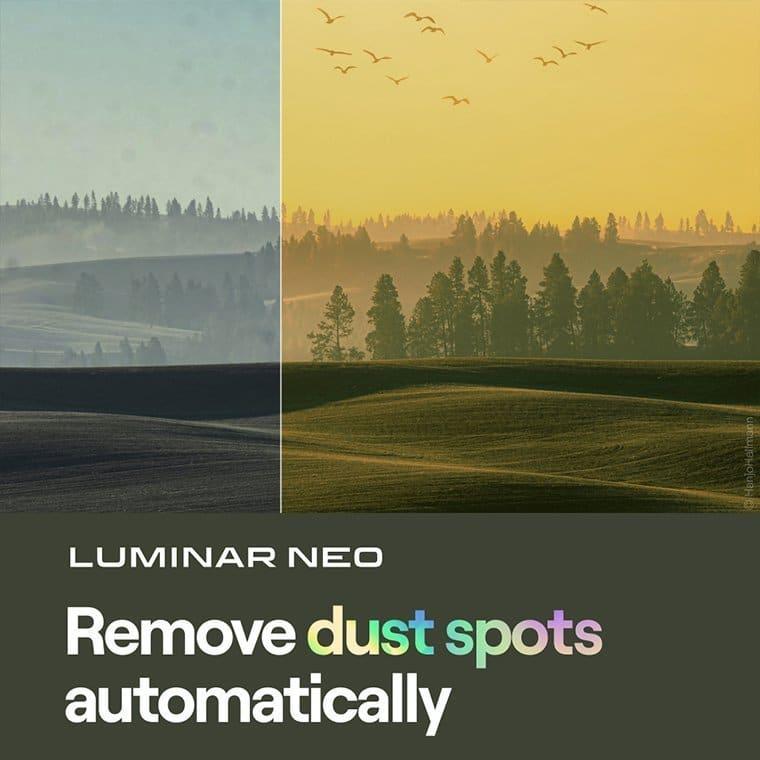 Luminar Neo remove dust spots